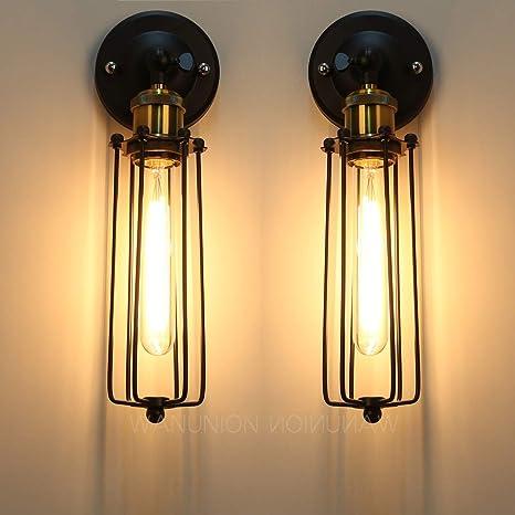 2 Pcs Lámparas Apliques de Pared Luces Clásicas Iluminación ...