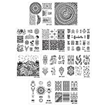 Bundle Monster 10pc Nail Art Polish Manicure Stamping Plates-Festival Collection