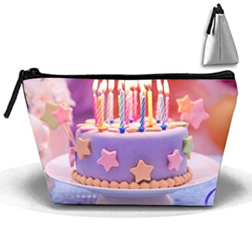 Amazon.com : Birthday Cake Large Capacity Storage Bag Makeup Package Trapezoidal : Beauty