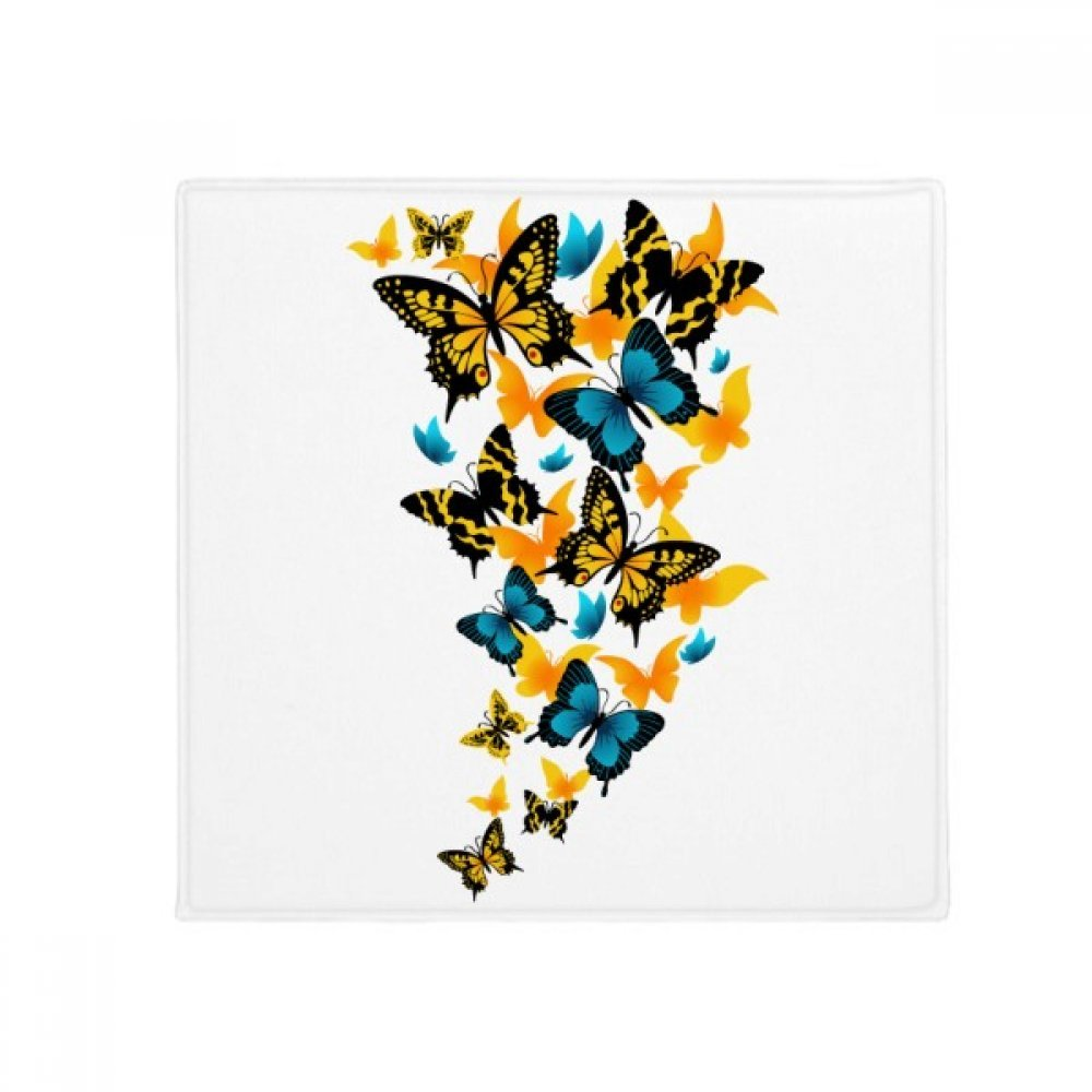 DIYthinker Butterflies with Different Colour Anti-Slip Floor Pet Mat Square Home Kitchen Door 80Cm Gift
