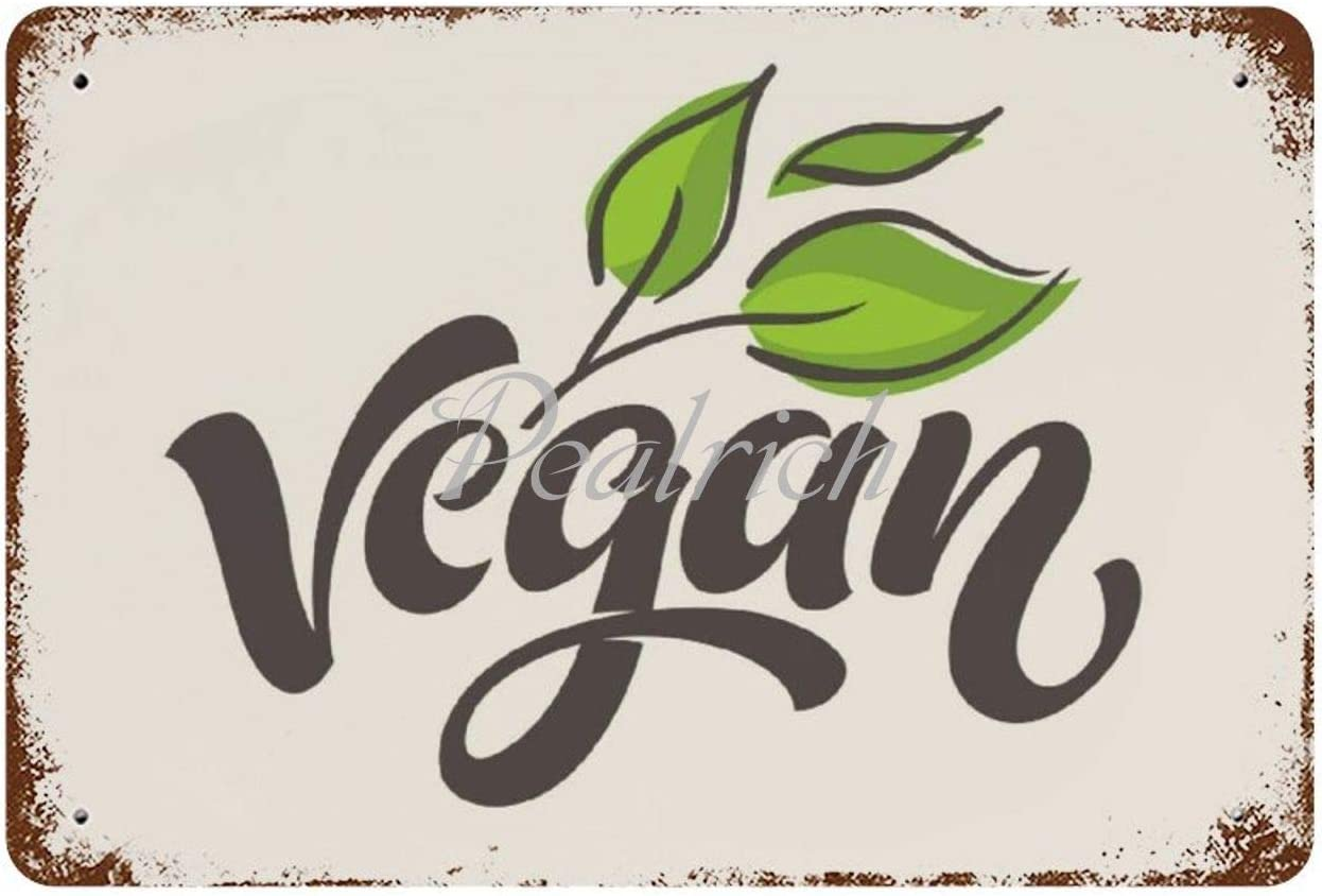 Wall Poster Tin Signs 8x12 Awesome Vegan Vegetarian Healthy Food Mum Vintage Metal Plaque Decorative Sign Home Decor for Indoor Outdoor