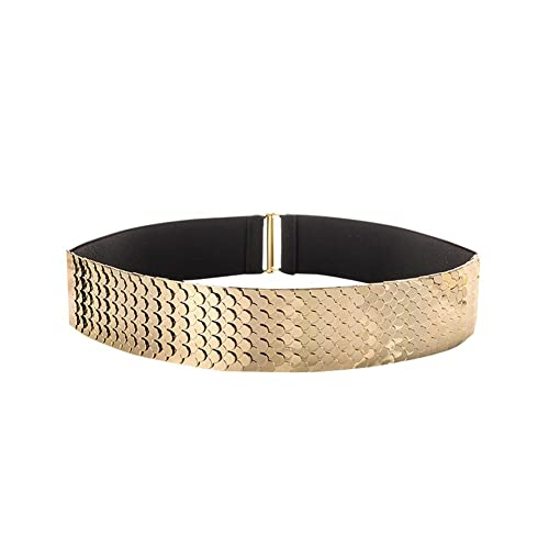 Sitong cinturón elástico ancho cinturón decorado con lentejuelas de la mujer