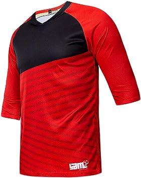 XW Camisa de Bicicleta de Manga Corta para Hombre Camisa de Manga Corta de MTB Camiseta de Manga Corta de Motocross