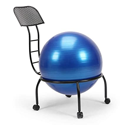 Peachy Amazon Com Balance Ball Chair Metal Frame Stability Ball Ocoug Best Dining Table And Chair Ideas Images Ocougorg