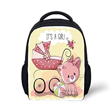 e01093a35e93 Amazon.com  iPrint Kids School Backpack Gender Reveal Decorations ...