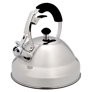 Bellemain 5645 Stainless Steel Whistling Tea Kettle for Stovetop, 2.75 Quart Teapot
