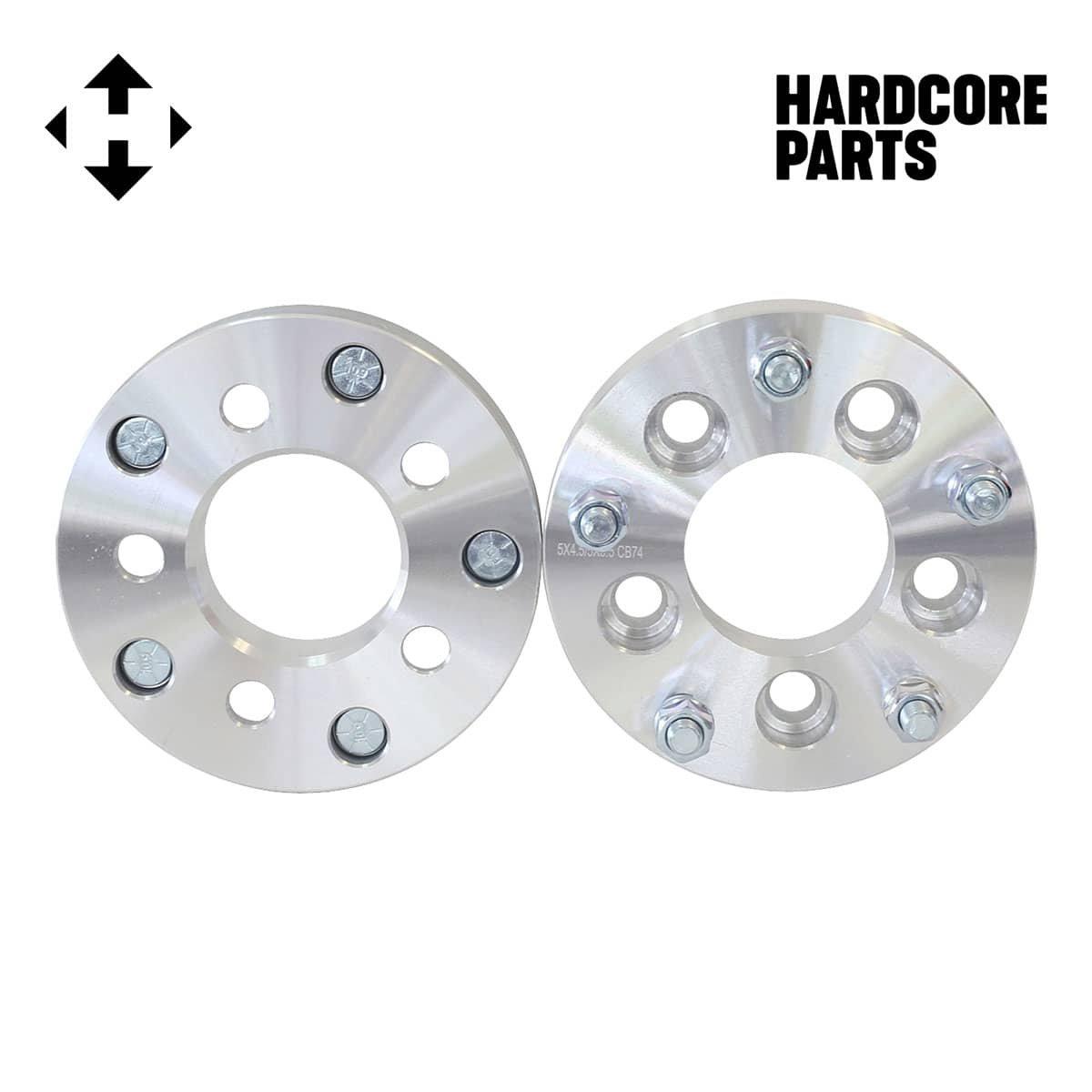 "2pc 1.5/"" Aluminum 5//4.5 to 4//156 ATV Wheel Adapter w// 10 mm Bolt 1 1//2 Inch"