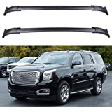 Durable Aluminum Alloy Cargo Racks Max Load 200 LBS MONOKING Roof Rack Crossbars Compatible with 2015-2020 GMC Yukon//Chevrolet Tahoe//Chevy Suburban//Cadillac Escalade with Side Rails