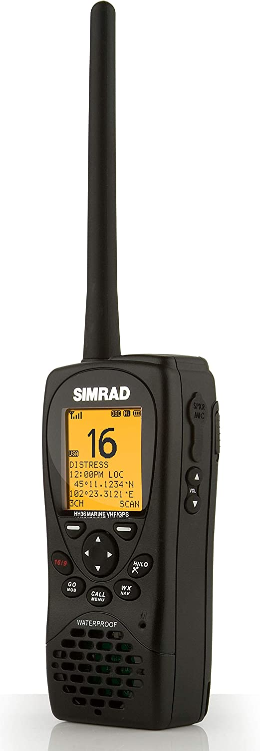 SIMRAD HH36 VHF HANDHELD WITH BUILT IN GPS CLASS D DSC: Amazon.es: Electrónica