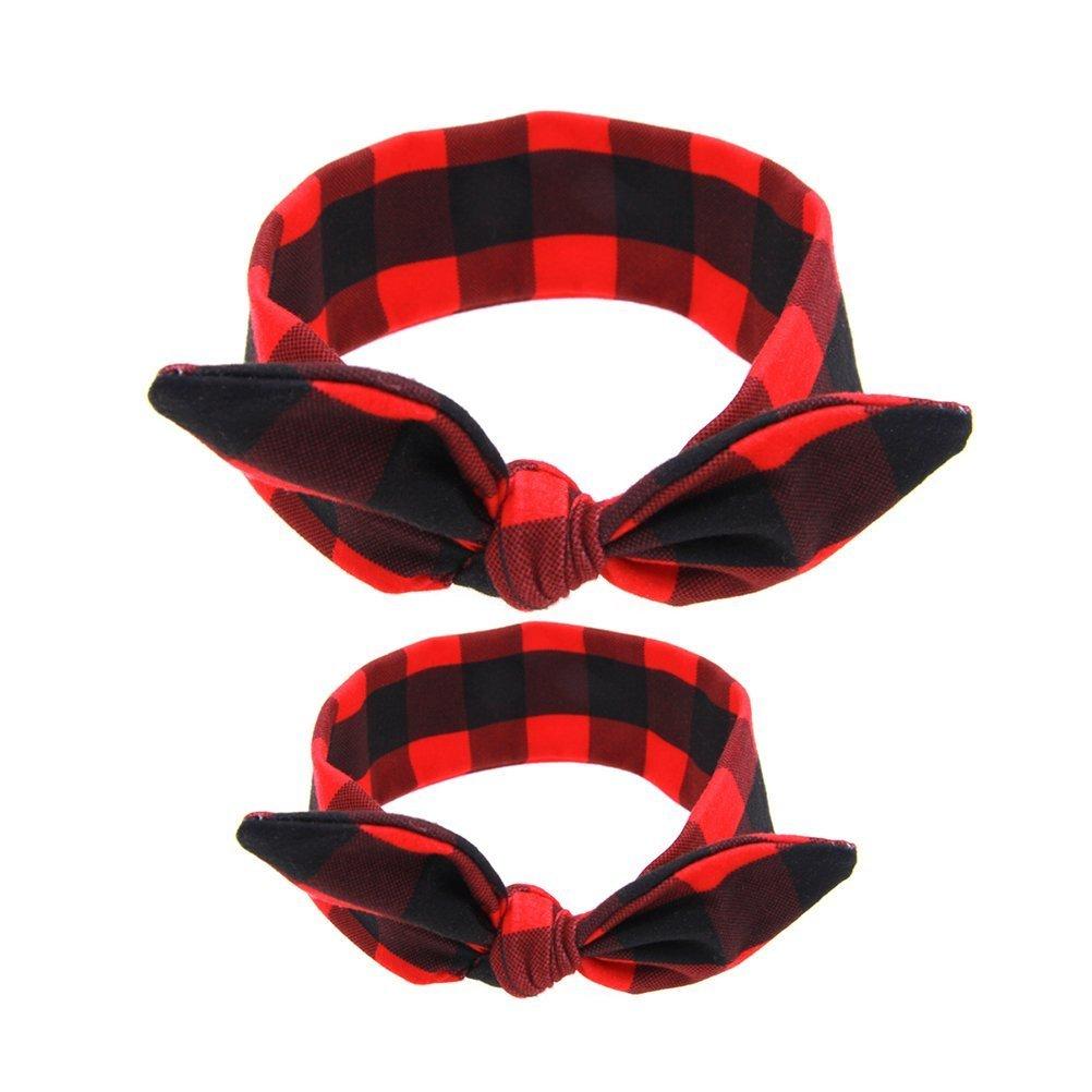 Nuolux Bandeau pour bébé et maman, Mère et enfant Costumes, lapin oreille, Turban Accessoires Cheveux, Red, 85 x 6.5 x 0.3cm IFMSSVHU18385