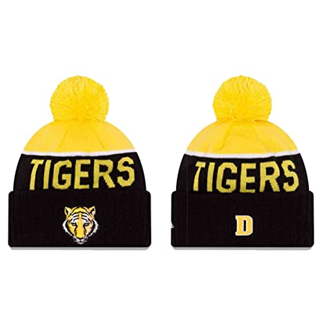 Amazon.com   DePauw Tigers Adult Sport Knit Pom Beanie - Team Color ... 361d3505bc84