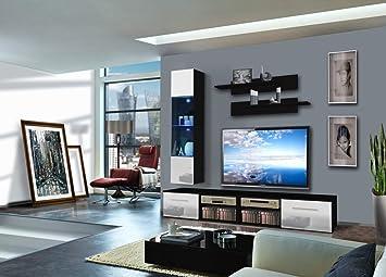 Moderne Wohnwand Atne Anbauwand Schrankwand TV-Board Möbeln ...