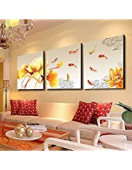 DIDIDD Living Room Modern Simple Pastoral Landscape Wall Painting Office Painting Triple Crystal Home Decoration Painting