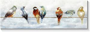 Bird Canvas Wall Art Painting: Abstract Animal Artwork Picture for Living Room ( 36'' x 12'' x 1 Panel )
