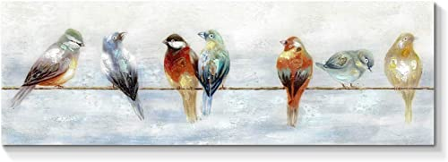 Bird Canvas Wall Art Painting Abstract Animal Artwork Hand Painted Picture for Living Room 45 x 15 x 1 Panel