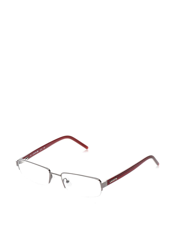 2f252961918 LACOSTE semi rimless Optical Prescription Glasses Frames L2119 035 Gunmetal  with Burgundy Arms  Amazon.co.uk  Clothing