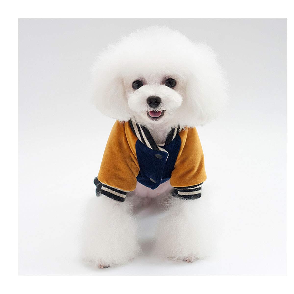 Kuqiqi Vestiti per Cani, Vestiti Autunnali e Invernali, Vestiti a Quattro Zampe addomesticati più di Cotone Teddy Legge combattimenti Piccoli e Medi Cuccioli di Animali Domestici Caldi