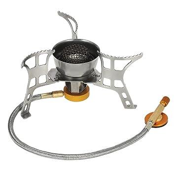 TOMSHOO Estufa de Camping, Mini Estufa a Gas Quemador de Estufa de Bote Plegable,