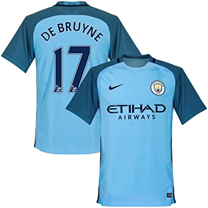 Nike Manchester City Home De Bruyne Jersey 2016 2017 (PS-Pro Player Printing c59d82a35
