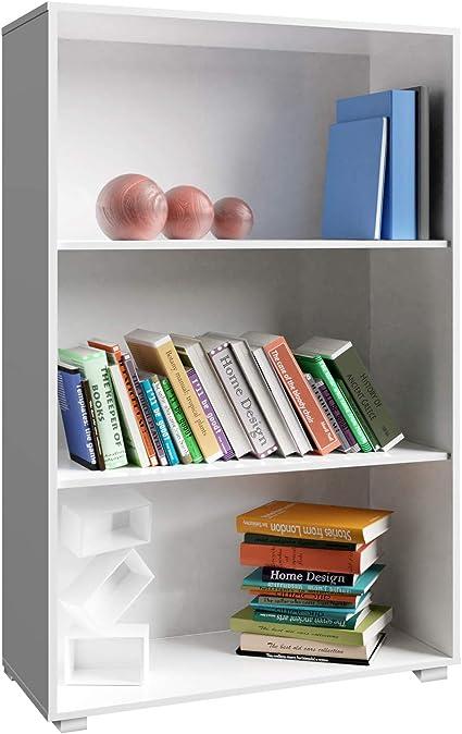 Deuba Estantería Vela | 3 estantes | Profundidad: 31cm | Color Blanco | 115cm x 60cm x 31cm