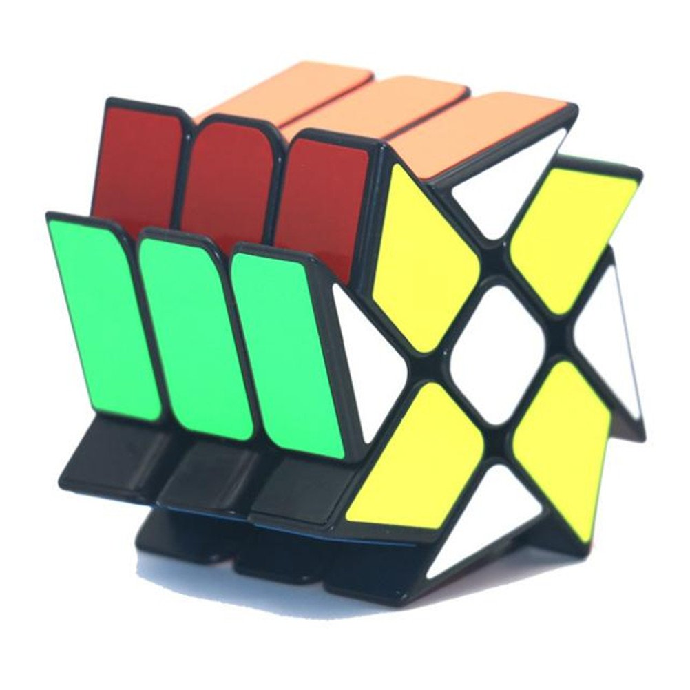 OJIN YONGJUN YJ Windmill V2 3x3 Magic Cube YJ Wheel Fenghuolun 3x3x3 Twisty Puzzle Smooth Magic Cube Rompicapo Puzzle Toys Nero