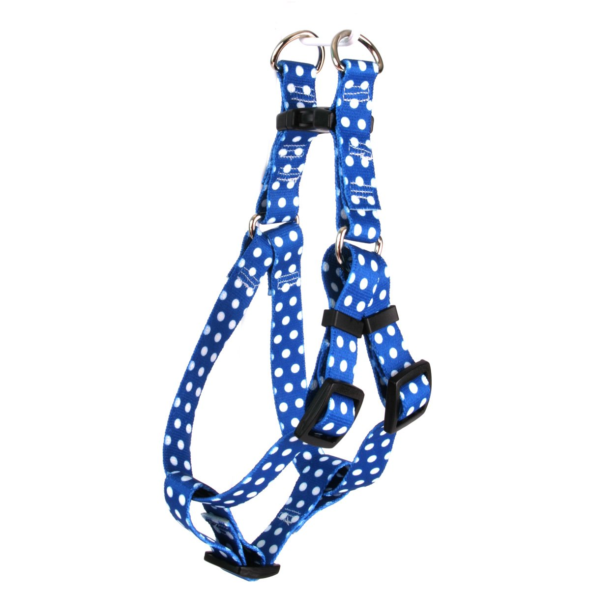 Yellow Dog Design Navy Polka Dot Step-in Dog Harness, X-Small-3/8 Wide and fits Chest of 4.5 to 9'' by Yellow Dog Design