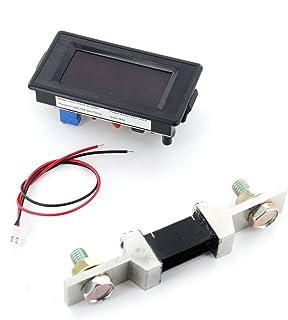 200A Amperometro Con Shunt 3 2/1 Display Digitale Led Rosso Pannello Di Amp¨¨re Amperometro Ac / DC12V - 260V
