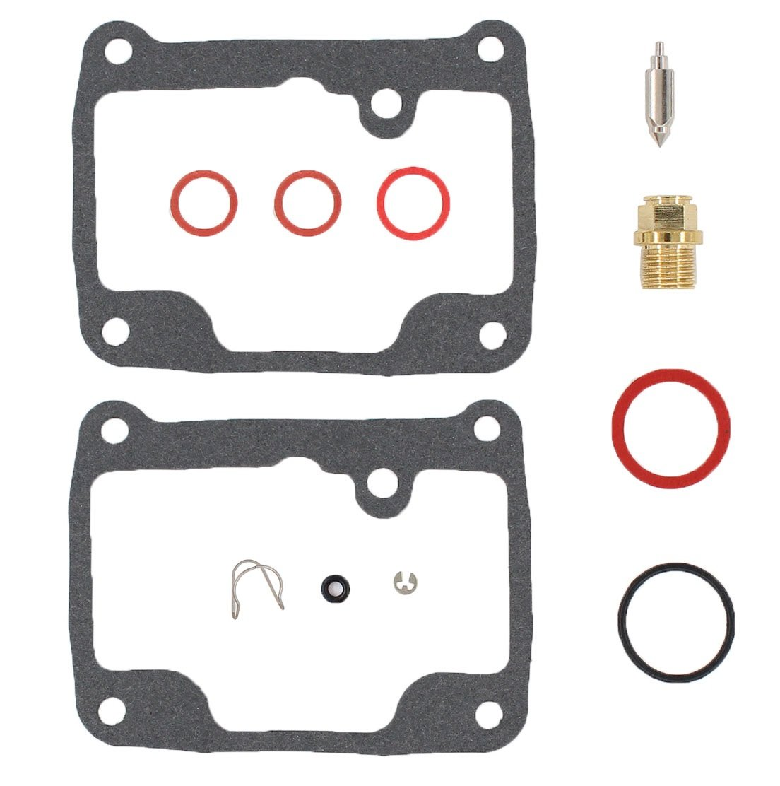 Quality Carburetor Carb Rebuild Repair Kit for the 2007-2009 Yamaha YFM 350 Grizzly IRS 4WD FG FGI ATVs