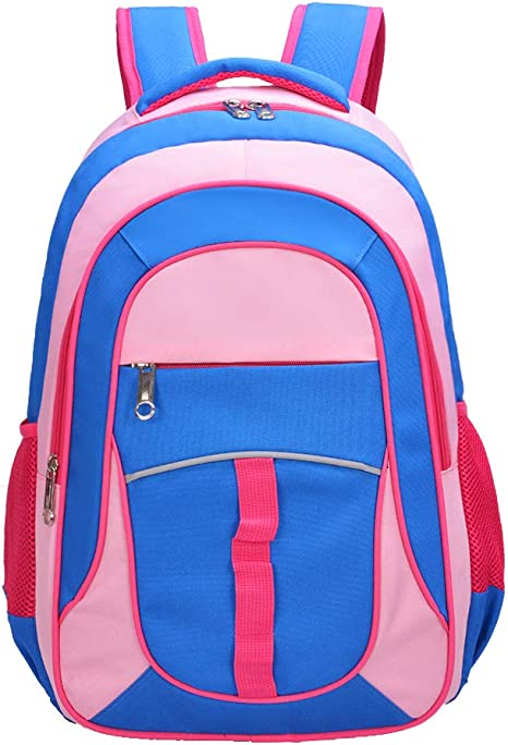 Childrens Junior Book Bag School Nursery with Shoulder Strap and Name tab