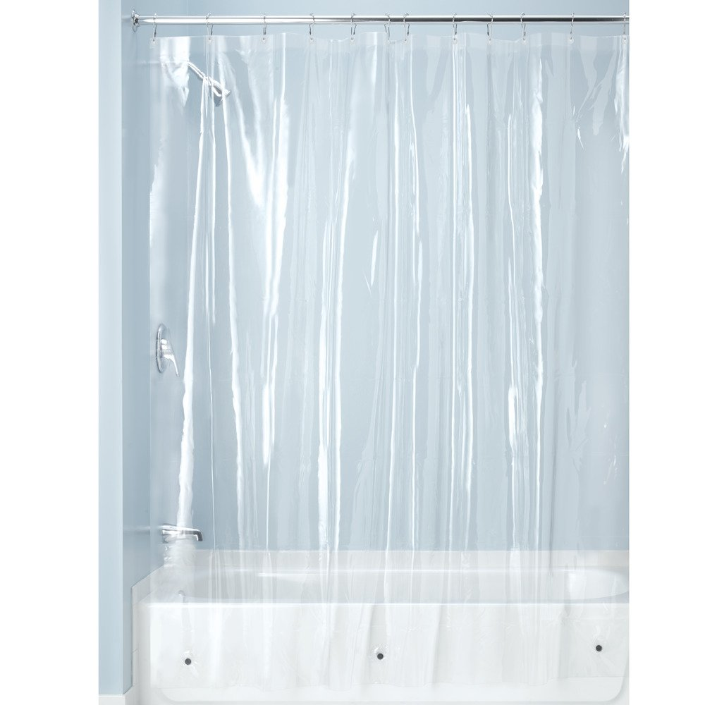 Simples cortinas de ducha resistentes al moho con ojales metálicos.  Medida 180x200cm.