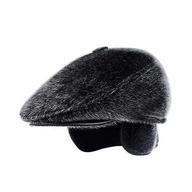 0530d91758f4b Blueis Dalina Men Casual Faux Mink Hair Elderly Warm Ear Protection ...