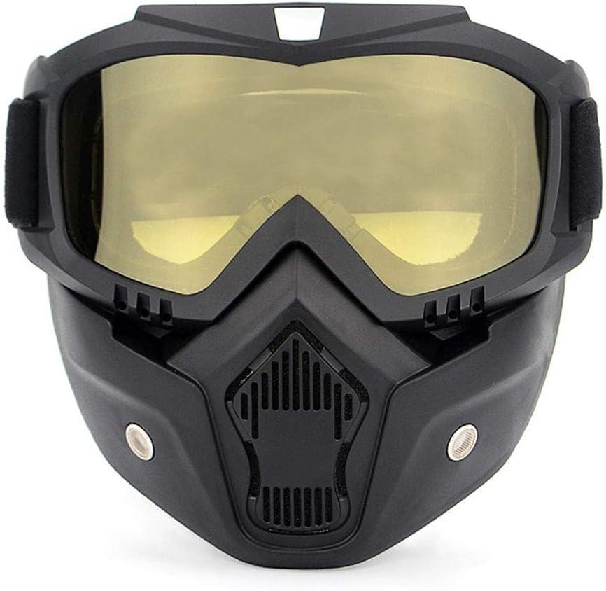 YGMDSL Caballero Equipo M/áscara Gafas De Protecci/ón Fuera del Camino Motocicleta Coche De Carreras Gafas De Protecci/ón Casco