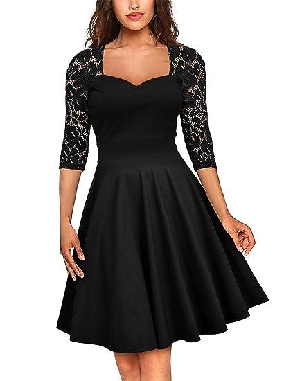d3549b975c FeelinGirl Women s Plus Size Evening Dresses V Neck Half Sleeves High Waist  A Line Christmas Party