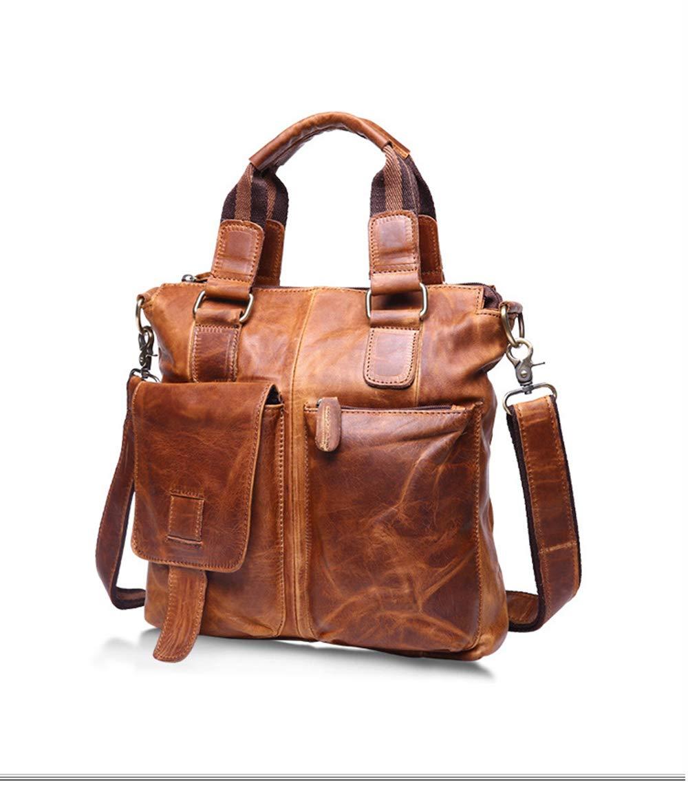 Aktentasche Aus Leder Für Männer Leder Large Messenger Schultertasche/Geschäfts-Beutel Für Arbeit Reisen College Top Griff/Handtasche / Schulranzen