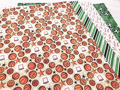 Sports Life Scrapbook Premium Specialty Paper Single-Sided 12x12 Collection Includes 16 Sheets Pattern Paper Pack by Miss Kate Cuttables