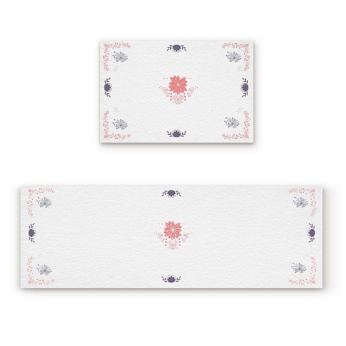 Decorative Pattern34fiy0421 23.6x35.4In+23.6x70.9In Findamy Non-Slip Indoor Door Mat Entrance Rug Rectangle Absorbent Moisture Floor Carpet for Floral Theme Glistened Lily Doormat 23.6x35.4In+23.6x70.9In