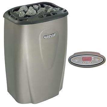 Estufa de sauna eléctrica Harvia Moderna V60E 6,0 kW para saunas familiares 5-8 m³ de color platino: Amazon.es: Iluminación