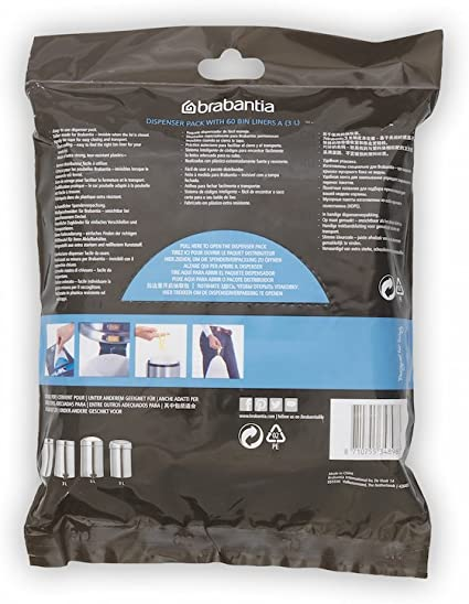 HDPE Brabantia Bin Liners Size C 10-12 L 40 Bags Extra Strong Quality Plastic