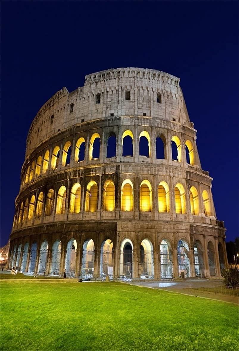AOFOTO 3x5ft Ancient Roman Colosseum Backdrops European Buildings Photo Shoot Background Italian Ruins Photography Studio Props Artistic Portrait Travel Digital Video Drop