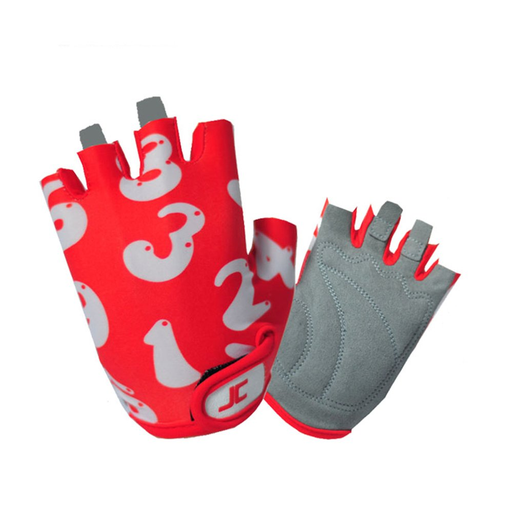 Kids Cycling Gloves,Non-Slip Ultrathin Breathable Children Half Finger Bicycle Cycling Gloves for Climbing,Fishing,Cycling,Roller Skating in Summer Jackcome Jackcome