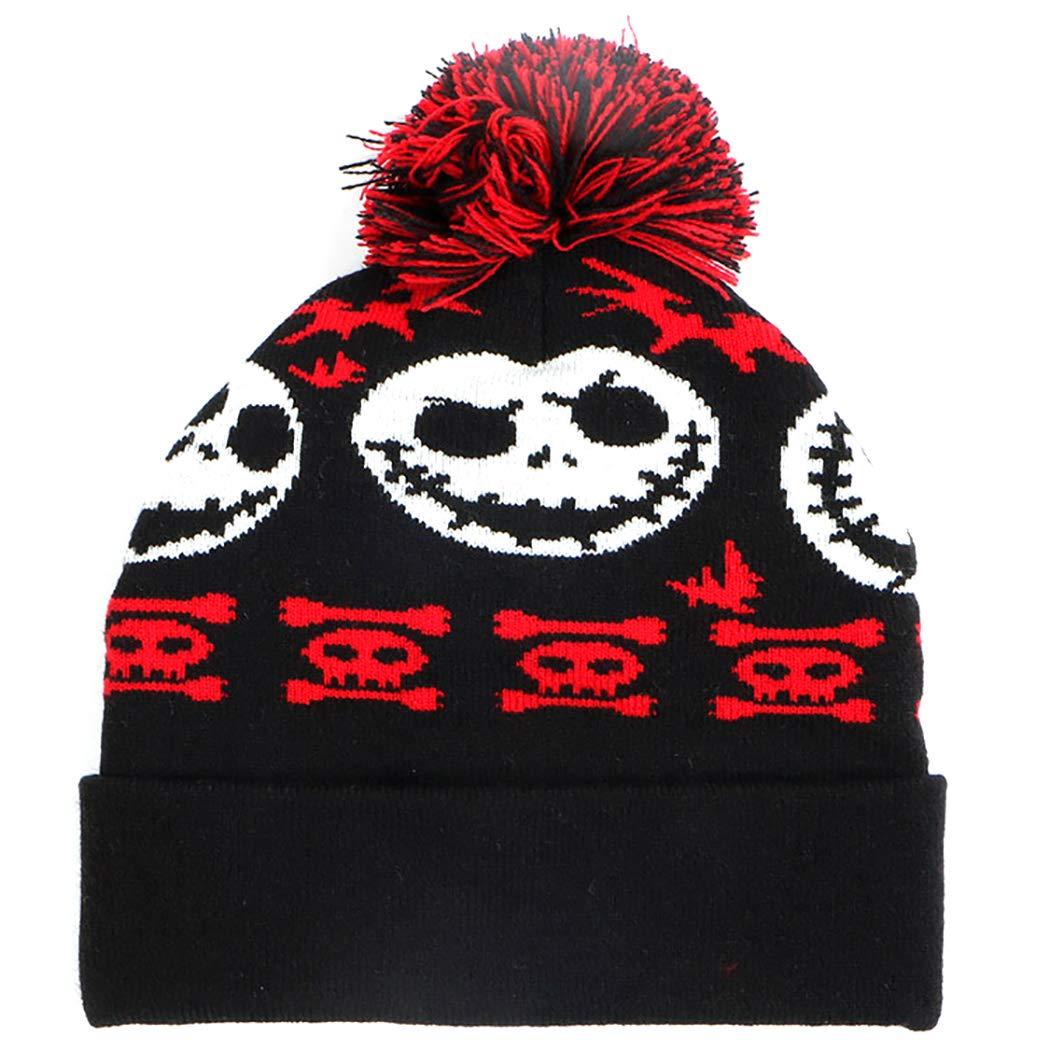 18dae5ccd Amazon.com: Zoylink Knitted Hat Beanie Hat Winter Warm Pom Pom Hat ...