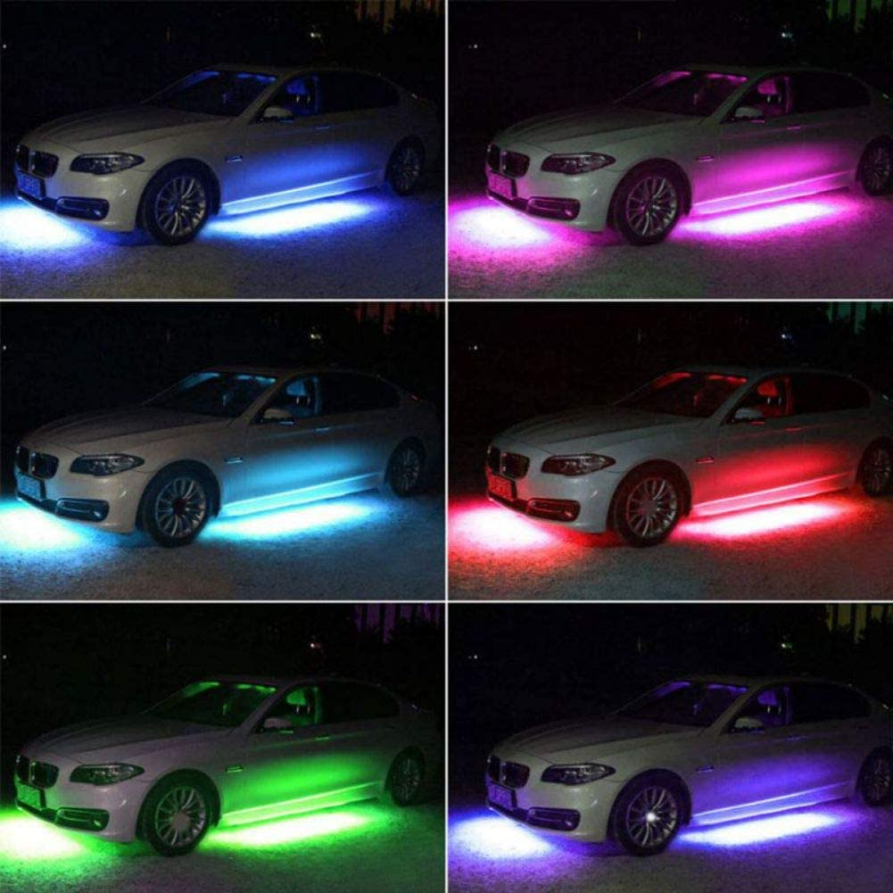 Onewell Car LED Neon Lights,Undercar Glow Lights,12V RGB Car Chassis Light,Led Car Light Underglow Kit,Sound Active Wireless Remote Control