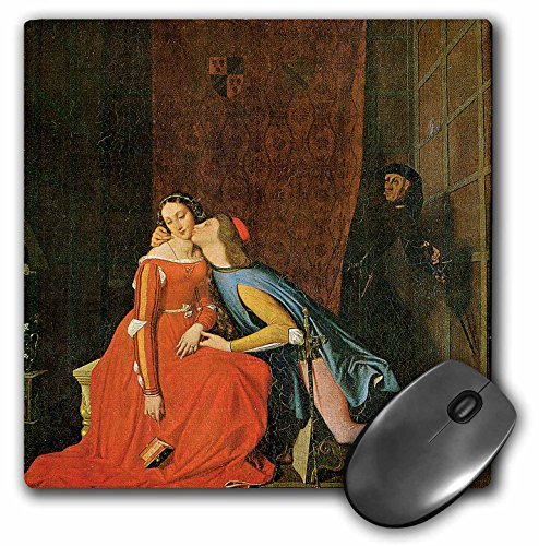 3dRose BLN Paintings of Love Fine Art Collection - Paolo and Francesca by Jean-Auguste-Dominique Ingres - MousePad (mp_127168_1)