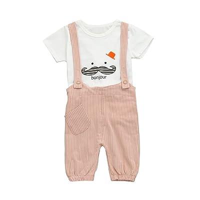b383694ee 0-3 Years Old Boys,Yamally_9R Fashion Baby Boys Beard Print T-Shirt