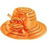 Yuncai Donna Filato di Cristallo Traspirante Bowler Estate Protezione Solare Spiaggia Cappello da Sole