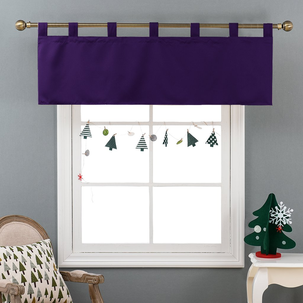 Window Curtain Tier for Living Room Royal Purple, One Panel