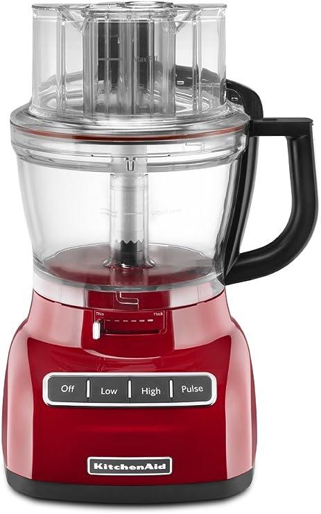KitchenAid KFP1333ER Rojo - Robot de cocina (Rojo, Botones, De plástico): Amazon.es: Hogar