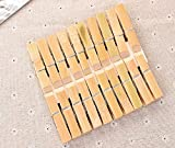 OBTANIM 100 Pcs Natural Bamboo Clothes Pins