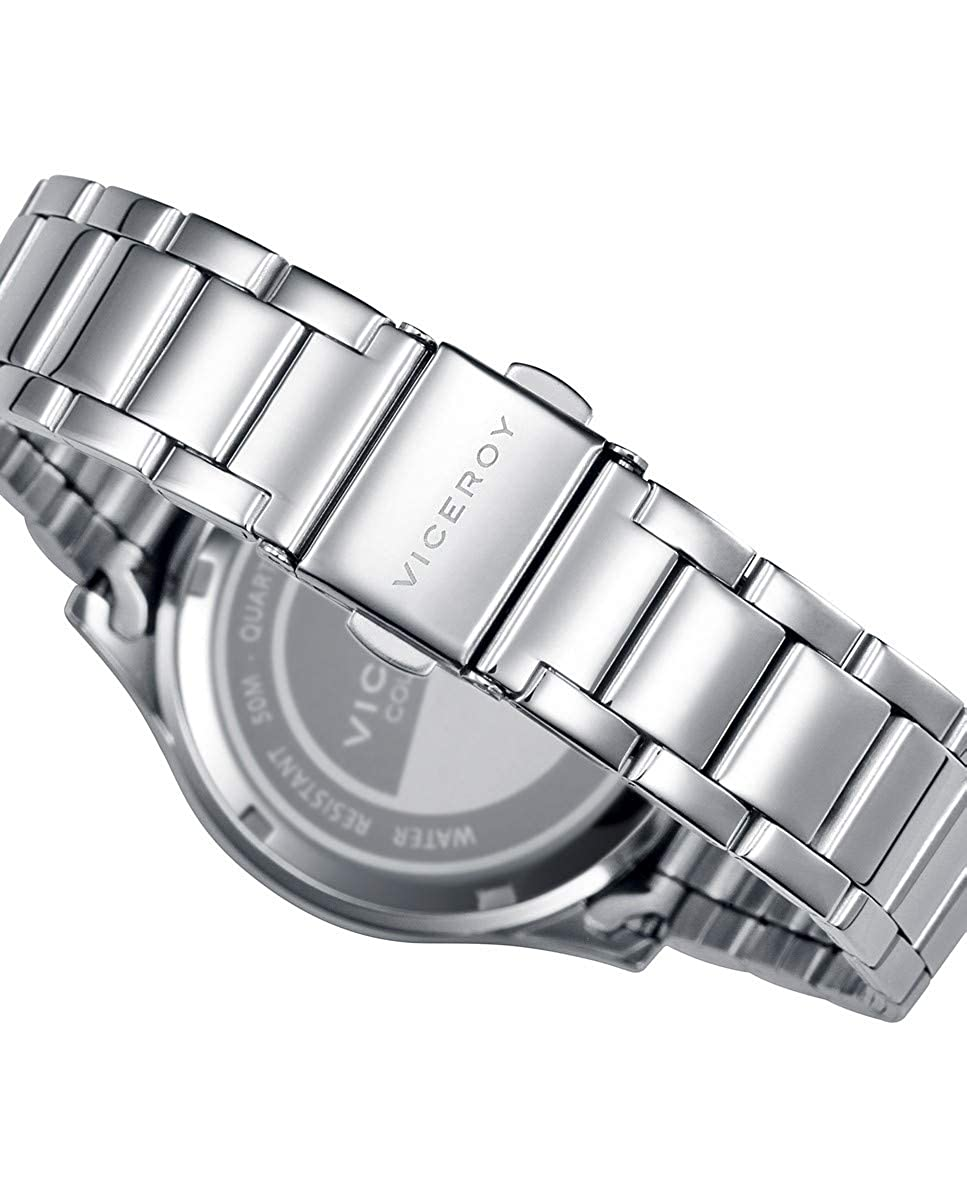 Viceroy 401068-03 - Reloj para Mujer Acero, Esfera Plateada