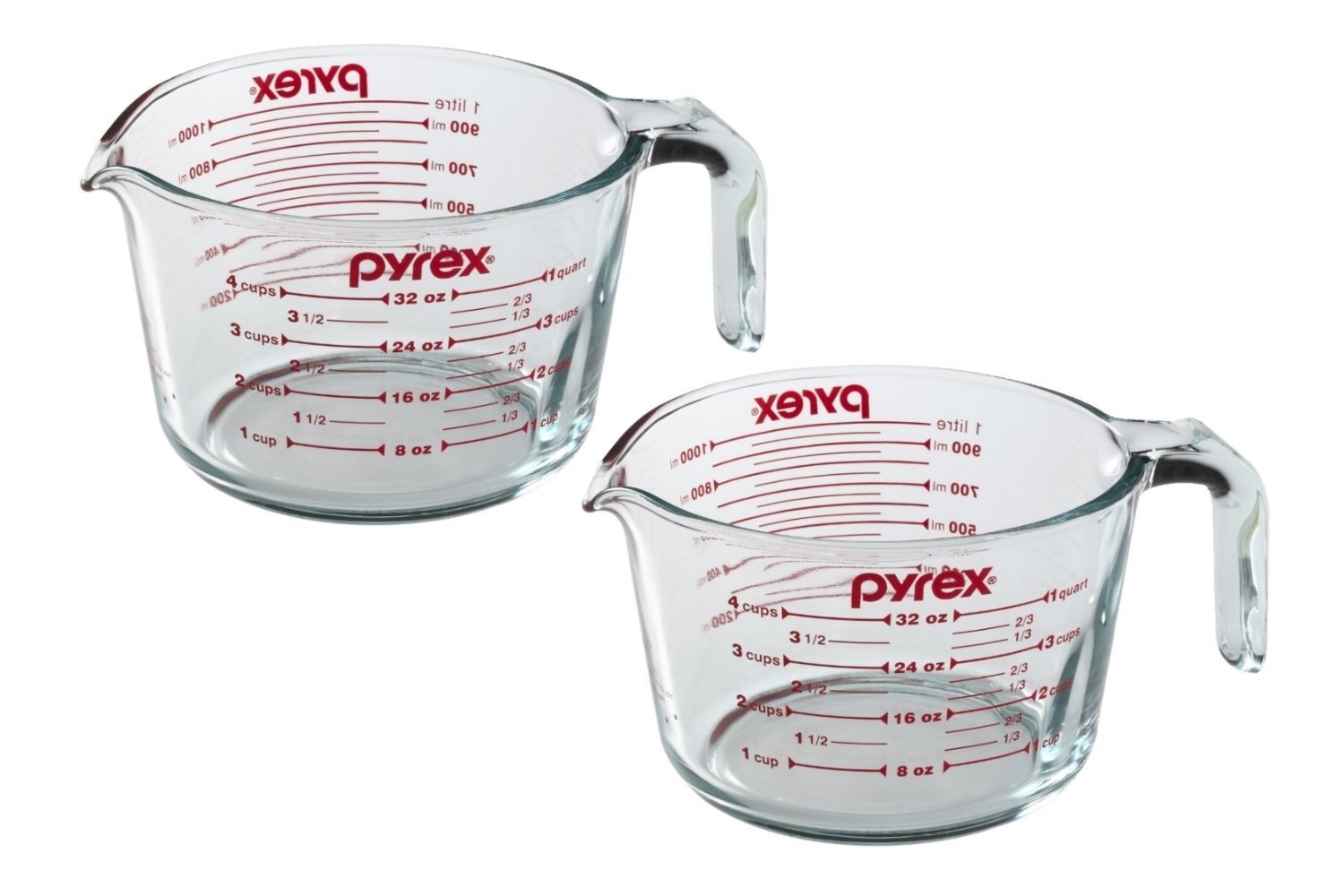 Pyrex 4-Cup Measuring Cup, Clear with Red Graphics SYNCHKG039125